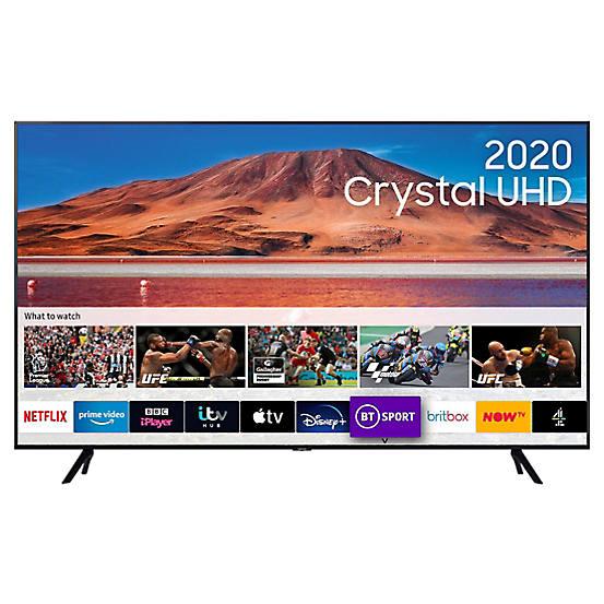 15% off at Look Again with code - Eg 50in Samsung 4K UHD HDR LED TV UE50TU7000 £326 / 55'' £368 / 65'' £513 / 75'' £679 / 70'' RU7020 £619
