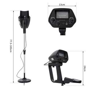 Outsunny 2 Modes Metal Detector, Water-resistant, Aluminium-Black £36.99 Free delivery at aosom