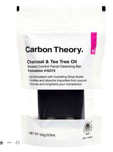 3 x Carbon Theory Charcoal and Tea Tree Oil Break-Out Control Facial Cleansing Bars £15.50 delivered @ Boots