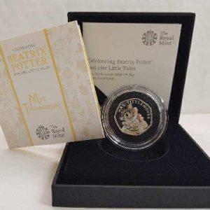 Beatrix potter coins reduced e.g Mrs Tittlemouse 2018 Royal Mint Coloured 50p Silver Proof Coin £29.95 delivered @ Beatrix potter shop