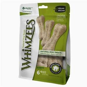 Whimzees 9 Natural Rice Bones for Dogs £7.56 prime / £12.05 non prime @ Amazon