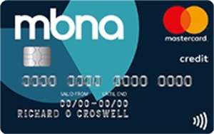 MBNA up to 24 months 0% Money Transfer card, fee from 2.99% (22.93% interest after)