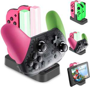 Diyife Joy-Con and Pro Controller USB-C Charging Dock for Nintendo Switch £9.99 (Prime) £14.48 (Non Prime) @ Sold by homiy EU and FBA