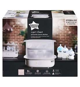 Tommee Tippee Electric Steriliser White £32.99 delivered at Boots Shop