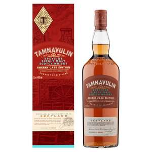 Tamnavulin Sherry Cask Edition Whisky Single Malt 40% 1 litre £22.50 instore at Tesco in Derry