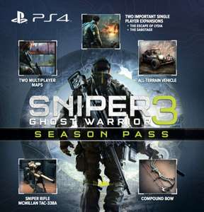 Sniper Ghost Warrior 3 - FULL GAME + Season pass only £6.49 on PlayStation store