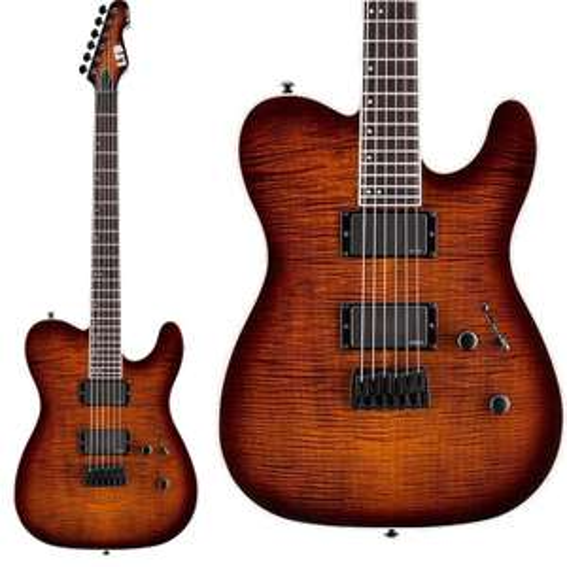 ESP LTD TE-401FM DBSBS Electric Guitar In Dark Brown Sunburst - EMG Pickups / Grover Tuners £499 Delivered @ Andertons