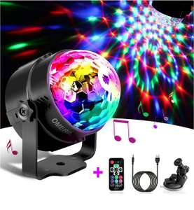 OMERIL Sound Activated Disco Ball Light £10.99 @ Sold by yiming store and Fulfilled by Amazon (+£4.49 non-prime)
