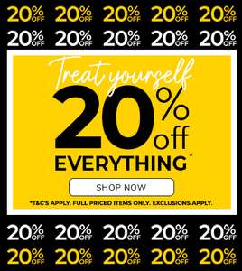 Extra 20% off Full Price + Up To 70% Off Sale (Mens, Womens, Childrens Clothing) + Free delivery on a £20+ Spend @ Peacocks
