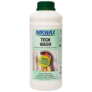 New NIKWAX Tech Wash® 1L for Wet Weather Clothing and Equipment - £7.64 @ eBay / millets