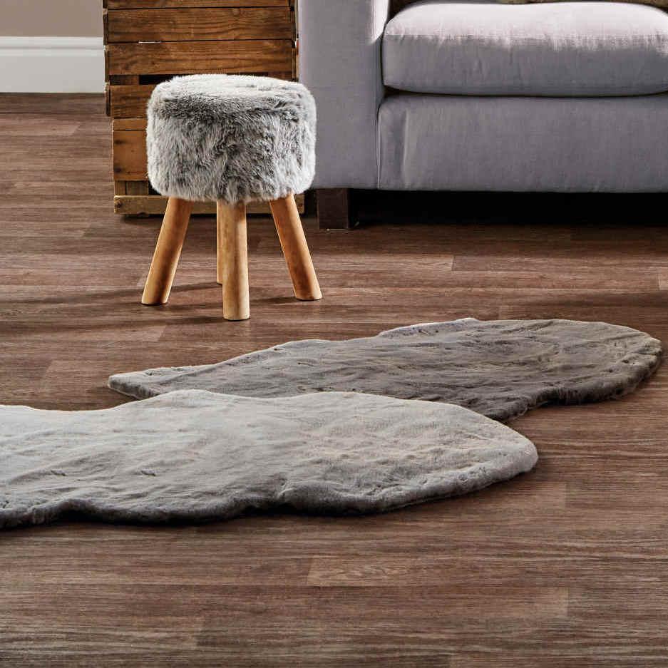 Aldi - Kirkton House- Luxury Faux Fur Rug - Light Grey - 60 x 90cm - £9.99 + £2.95 delivery at Aldi