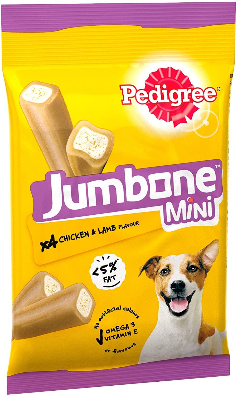 Pedigree Jumbone - Small Dog Treats with Chicken and Lamb, 32 Chews £1.81 + £4.49 NP @ Amazon
