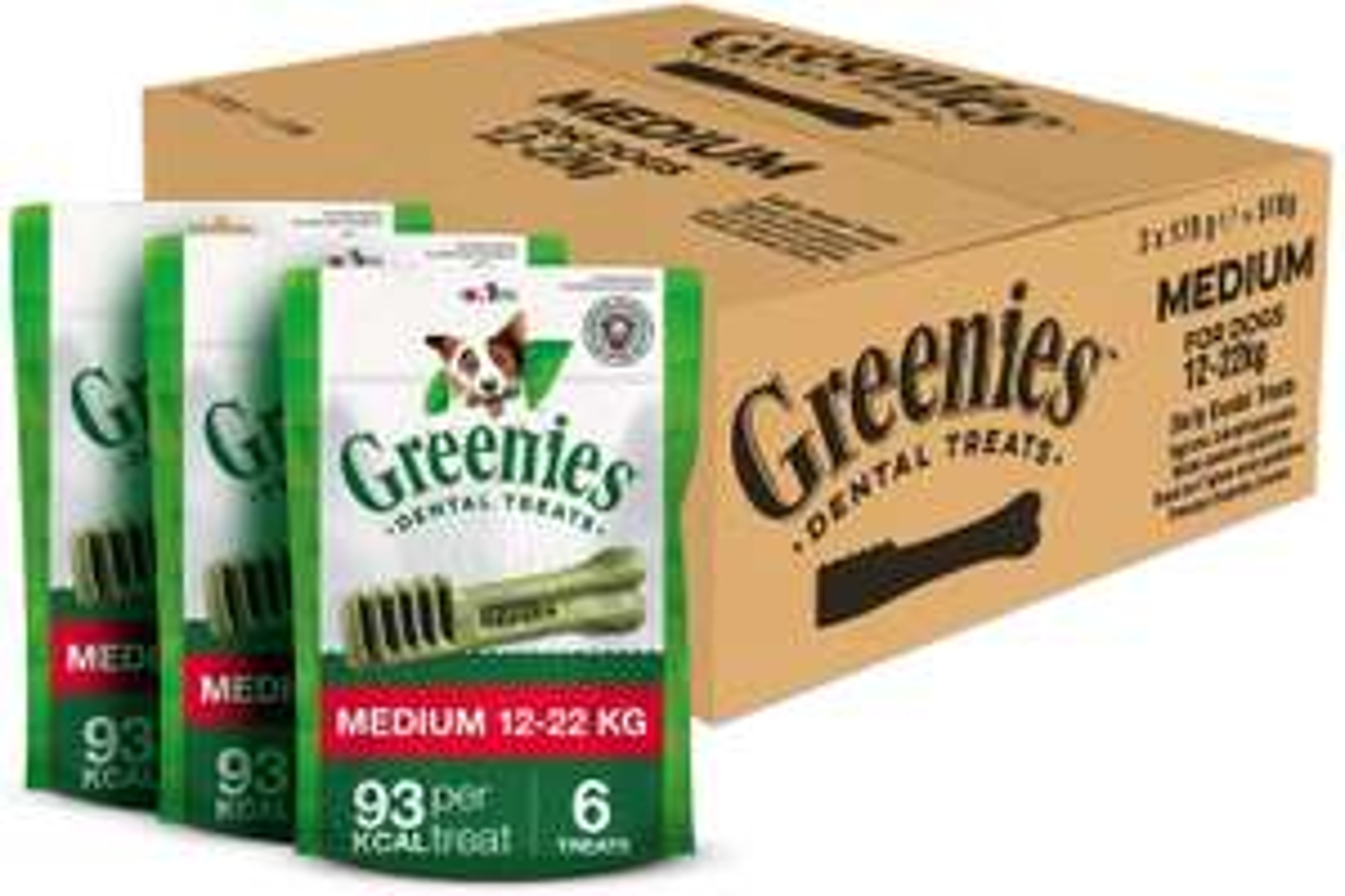Greenies Daily Original Medium Dog Treats - 18 Chews (3 x 170 g) £10.46 (£6.27 S&S wth voucher) + £4.49 NP @ Amazon