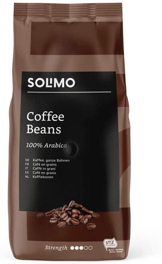 2 kg Amazon Brand Solimo Coffee Beans (2 x 1 kg) £8.92 with prime (+£4.49 non prime) @ Amazon