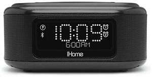 iHome Wireless Charging Bluetooth Built in Mic USB Dual Alarm Clock - Black £36.99 Argos on eBay