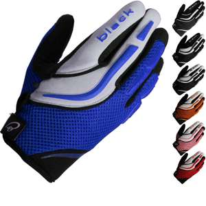 Black Raw motocross gloves (in various colours) for £8.37 delivered @ GhostBikes