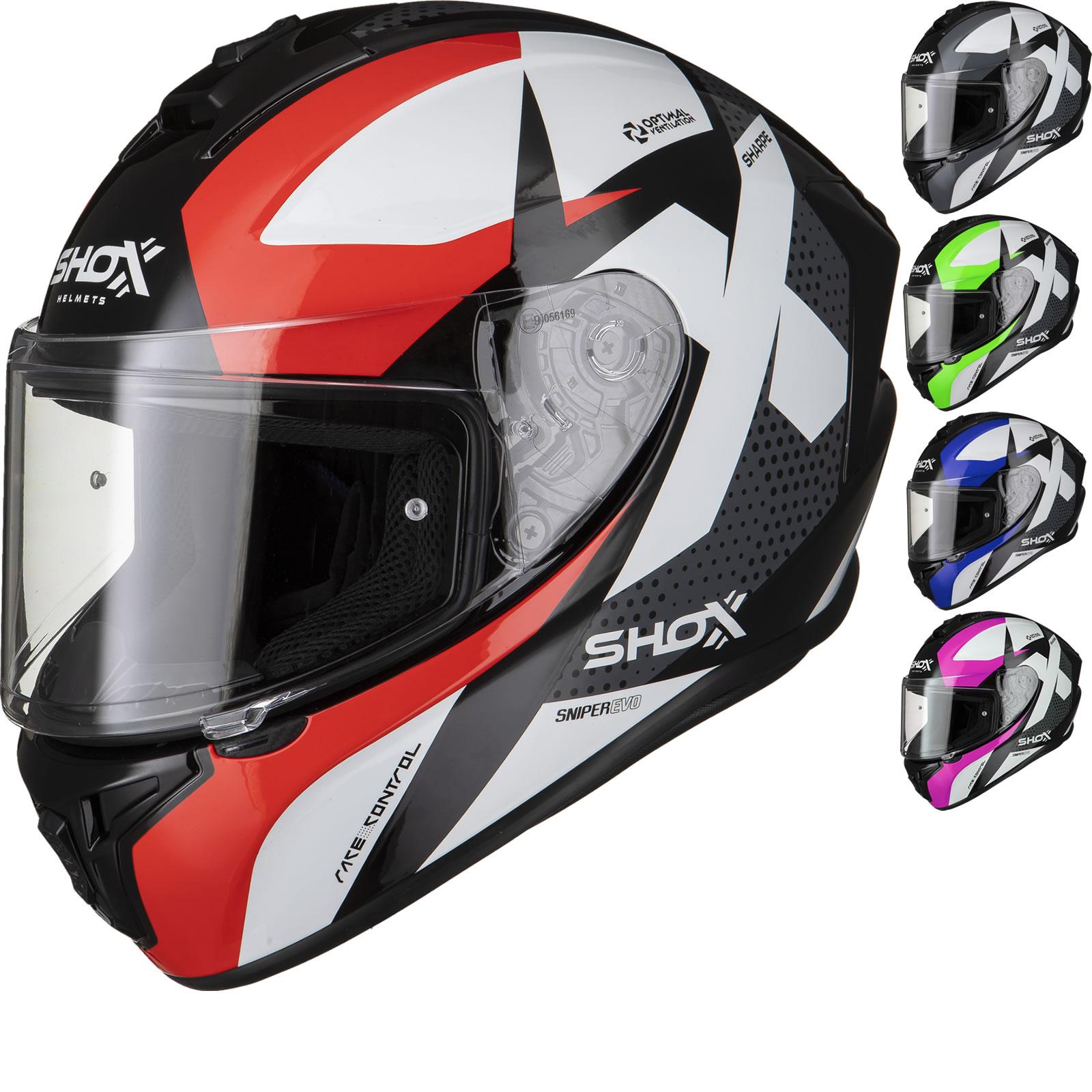 Shox Sniper Evo Sharpe Motorcycle Helmet - £30.09 @ Ghost Bikes