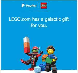 Free gift with a purchase of £15 from Lego.com