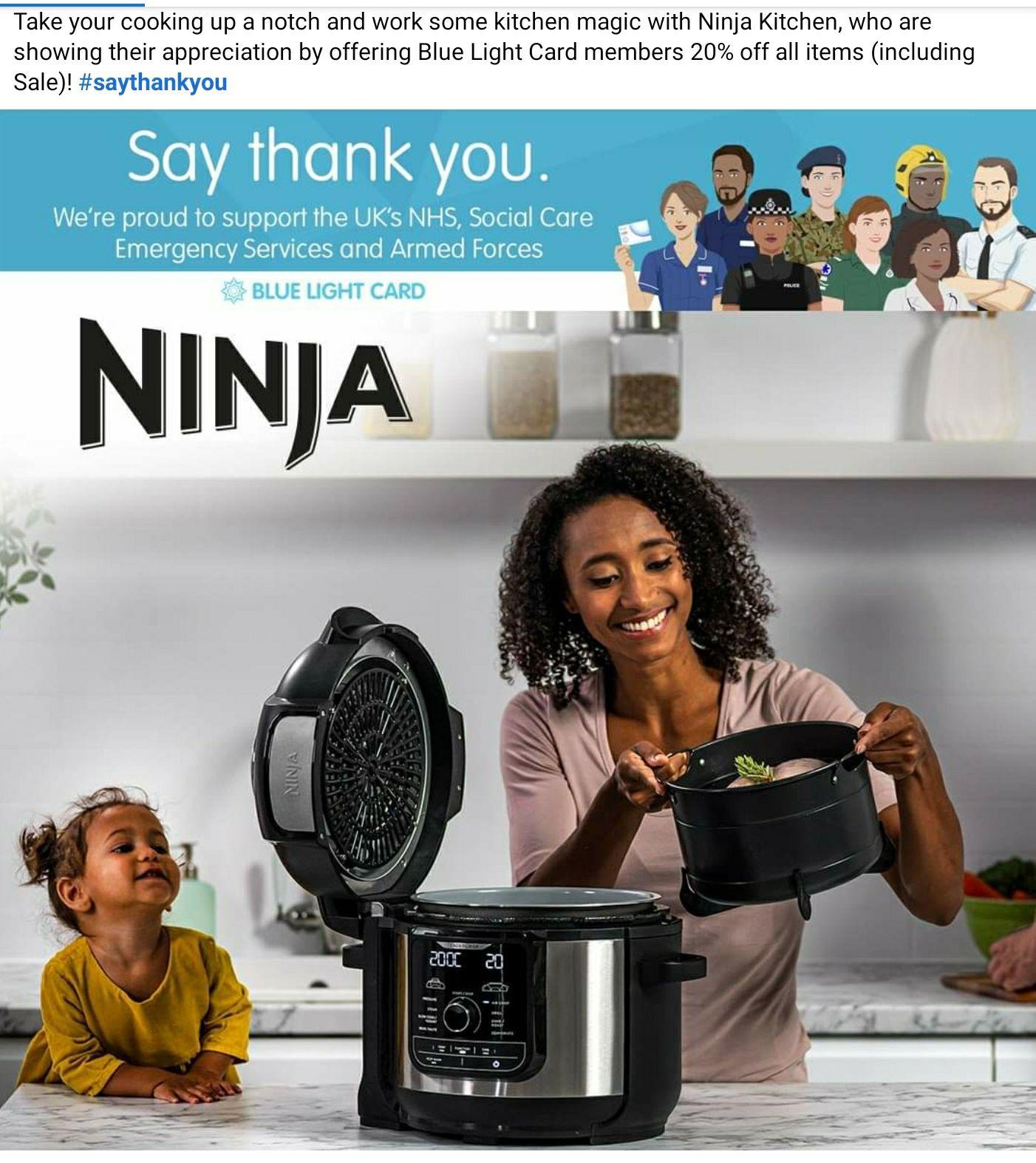 20% of Ninja Kitchen with Blue Light Card