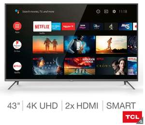TCL 43EP658 43 Inch 4K Android Smart TV | £279.99 - Costco
