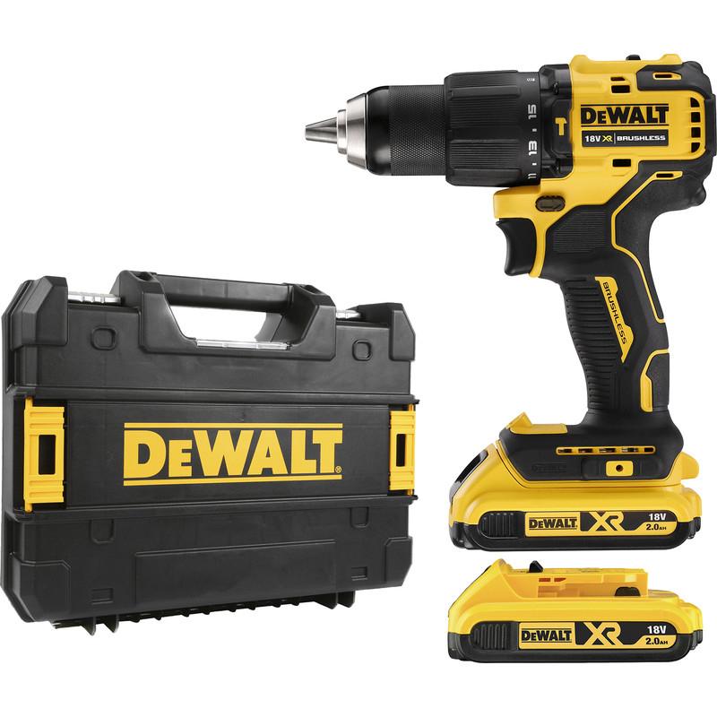 DeWalt DCD709D2T 18V XR Brushless Compact Combi Drill Driver 2 x 2.0Ah £129.98 @ Toolstation