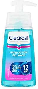 Clearasil Ultra Rapid Action Gel Wash £4 (+£4.49 Non Prime) at Amazon