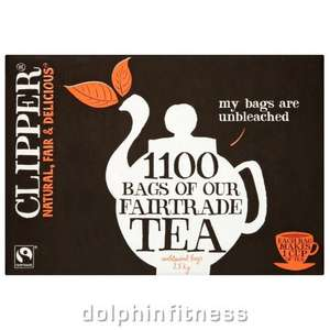 1100 Clipper tea bags - £23.44 Delivered @ Dolphin Fitness