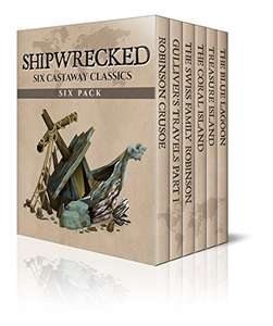 Shipwrecked Six Pack (Robinson Crusoe / Gulliver's Travels/ The Coral Island/ Treasure Island (Illustrated) Kindle Edition now Free @ Amazon