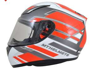 5 star Sharp safety rated helmet - MT Revenge Zusa - White / Red £44.95 at SportsBikeShop