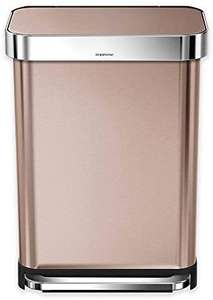 simplehuman CW2033 55L Rectangular Pedal Bin with Liner Pocket, Rose Gold Stainless Steel £120.19 at Amazon