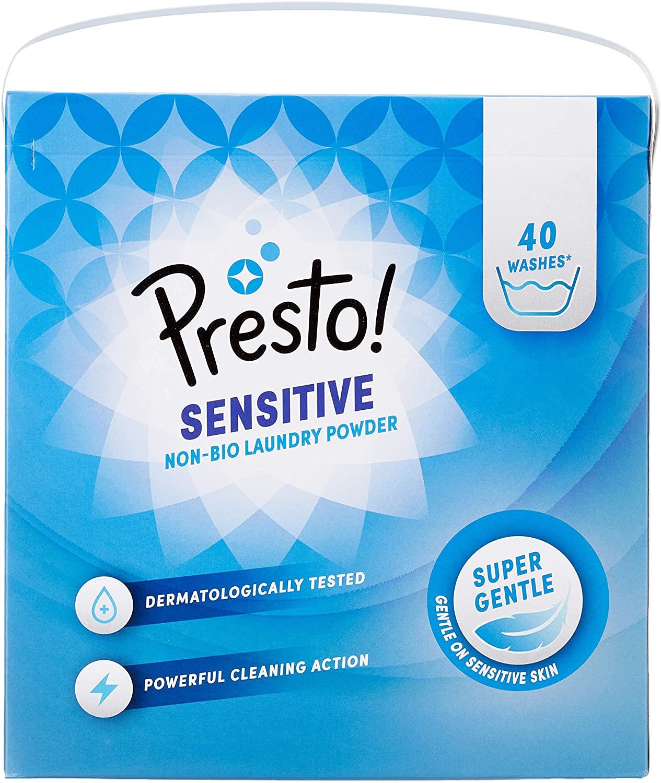 Presto! Powder Detergent Non-Bio / Bio 120 Washes (3 Packs, 40 Washes Each) £12.48 at Amazon Prime (£11.86 with S&S / + £4.49 non Prime)