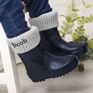 Personalised Wellies & Welly Socks £14.57 delivered in gift box
