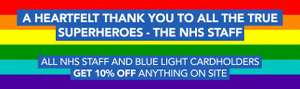 Zoom NHS/blue light discount 10% entire site.