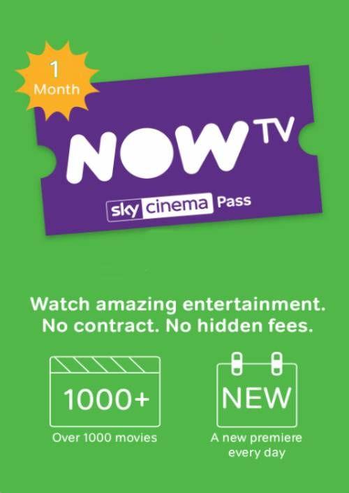 NOW TV - 1 Month Cinema Pass - £2.99 @ Cdkeys