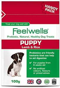 Feelwells Feelwells Probiotic Puppy Treats Handy Pack, 100 g, Pack of 12 £1.99 (+£4.49 Non Prime) @ Amazon
