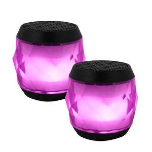 TWIN value EvoDX BT 4.0 Speaker LED Multi-colour with TWS Feature and Handsfree Mic - IPX4-£6.38 Delivered @ 7dayshop