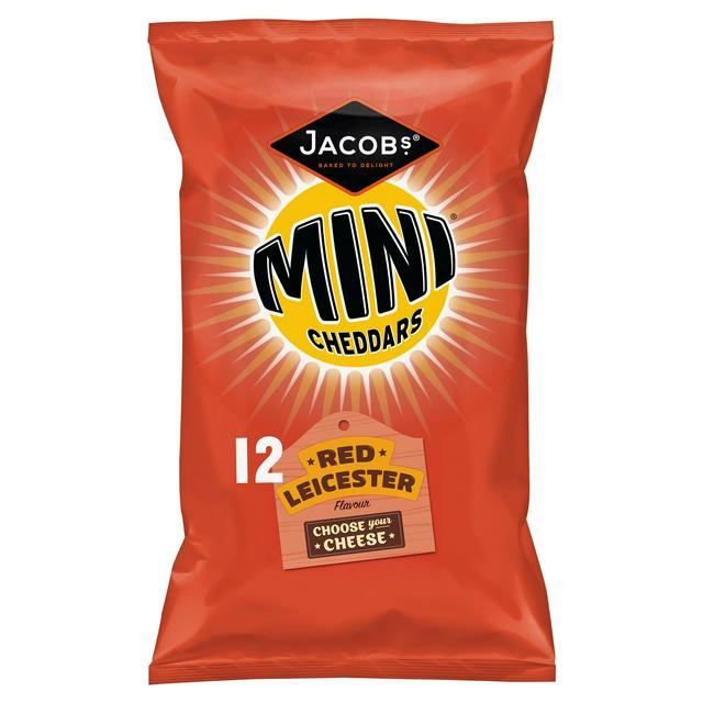 Jacob's Mini Cheddars Red Leicester 12x25g / Jacob's Mini Cheddars Original Crisps 12x25g £1.50 @ Sainsbury's