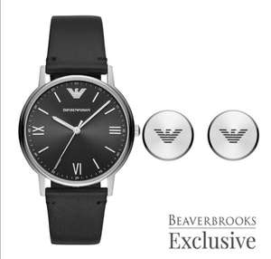 Emporio Armani Exclusive Watch And Cufflink Men's Box Set £119 @ Beaverbrooks