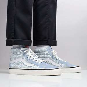 Vans SK8-Hi 38 DX Shoes – (Anaheim Factory) OG Light Blue/White/Warp Check In Sizes UK8.5 UK9 UK11 - £37.47 @ Urban Industry