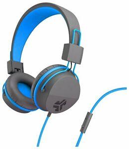 JLab Neon On-Ear Faux Leather Adjustable Foldable Headphones - Grey/Blue £7.99 & Free Delivery @ Argos / Ebay