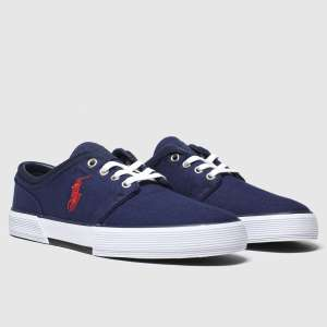 Polo Ralph Laurennavy & red faxon low trainers £34.99 delivered @ Schuh