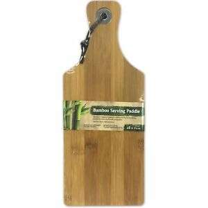 28cm x 11cm Bamboo Wooden Paddle Chopping Board £2.45 delivered @ bluelagoonproducts ebay