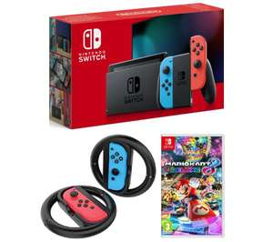 Nintendo Switch back Bundles @ Currys PC World - E.G NINTENDO Switch Neon, Mario Kart 8 & Joy-Con Racing Wheels Bundle £329