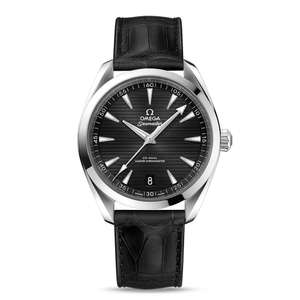 OMEGA Seamaster Aqua Terra Black Leather 41mm Automatic Men's Watch £3,200 at Hugh Rice