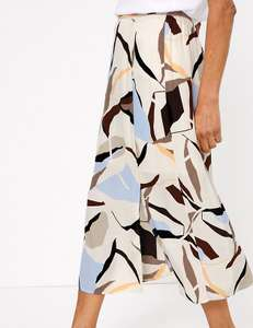 Up to 50% off Select Skirts,Geometric Split Front Midi Pencil Skirt £12.50/ £16 Delivered from Mark and Spencer