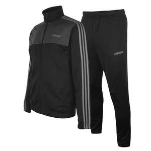adidas 3 Stripe Basic Poly Tracksuit Mens for £36.19 delivered (using code) @ USC