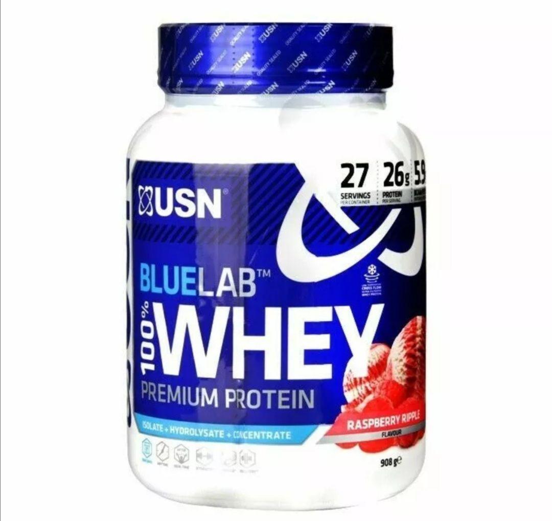 USN Blue Lab Whey - Raspberry Ripple/ BBE 06/20 £16.99 @ ultimate_fitness_4_u ebay