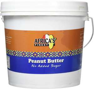 African Finest Peanut Butter No Added Sugar 5kg - £21.99 / £18.69 Subscribe and Save @ Amazon