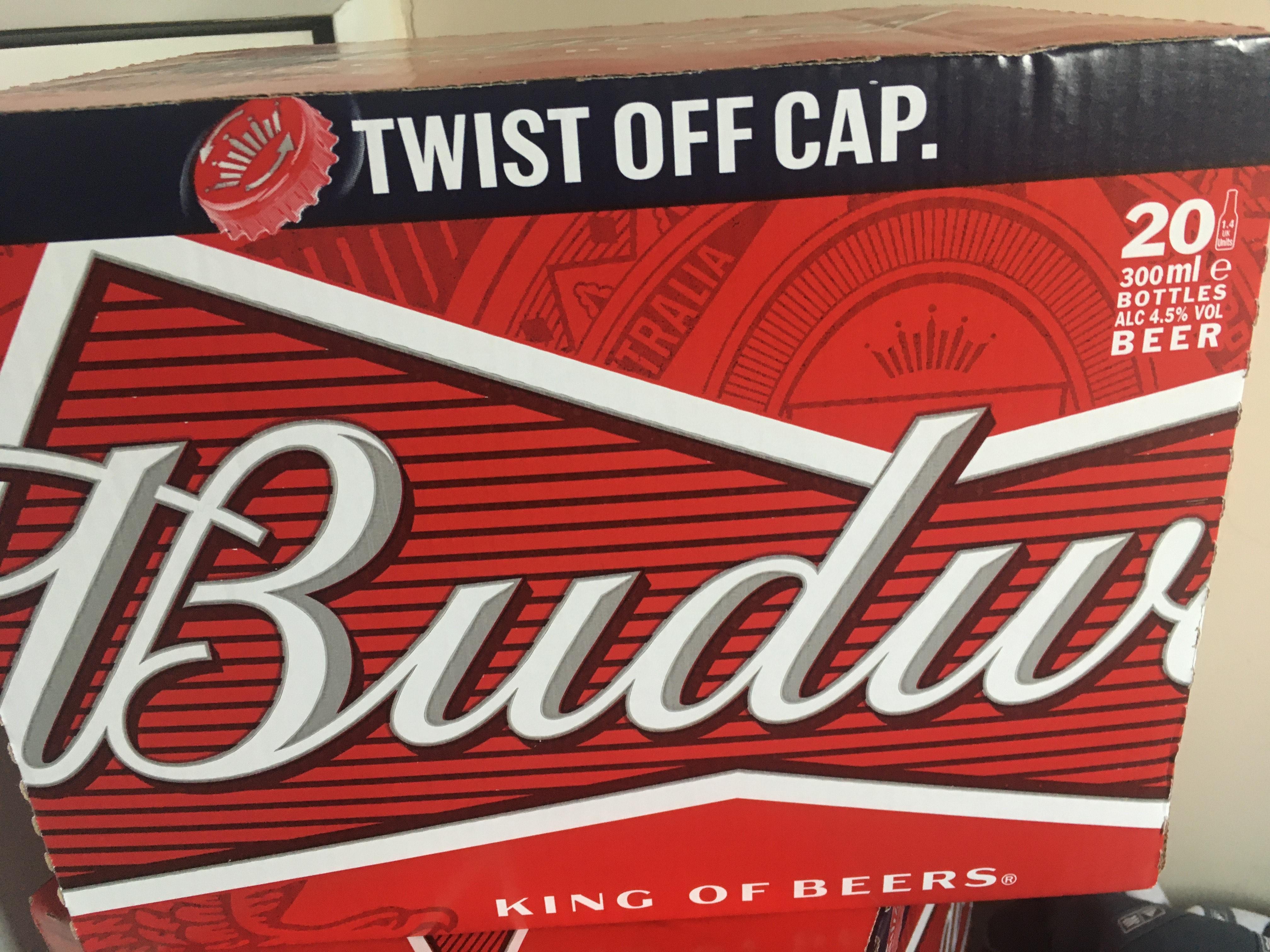 Budweiser - 20 Bottles - £9.99 @ Lidl Mirfield.