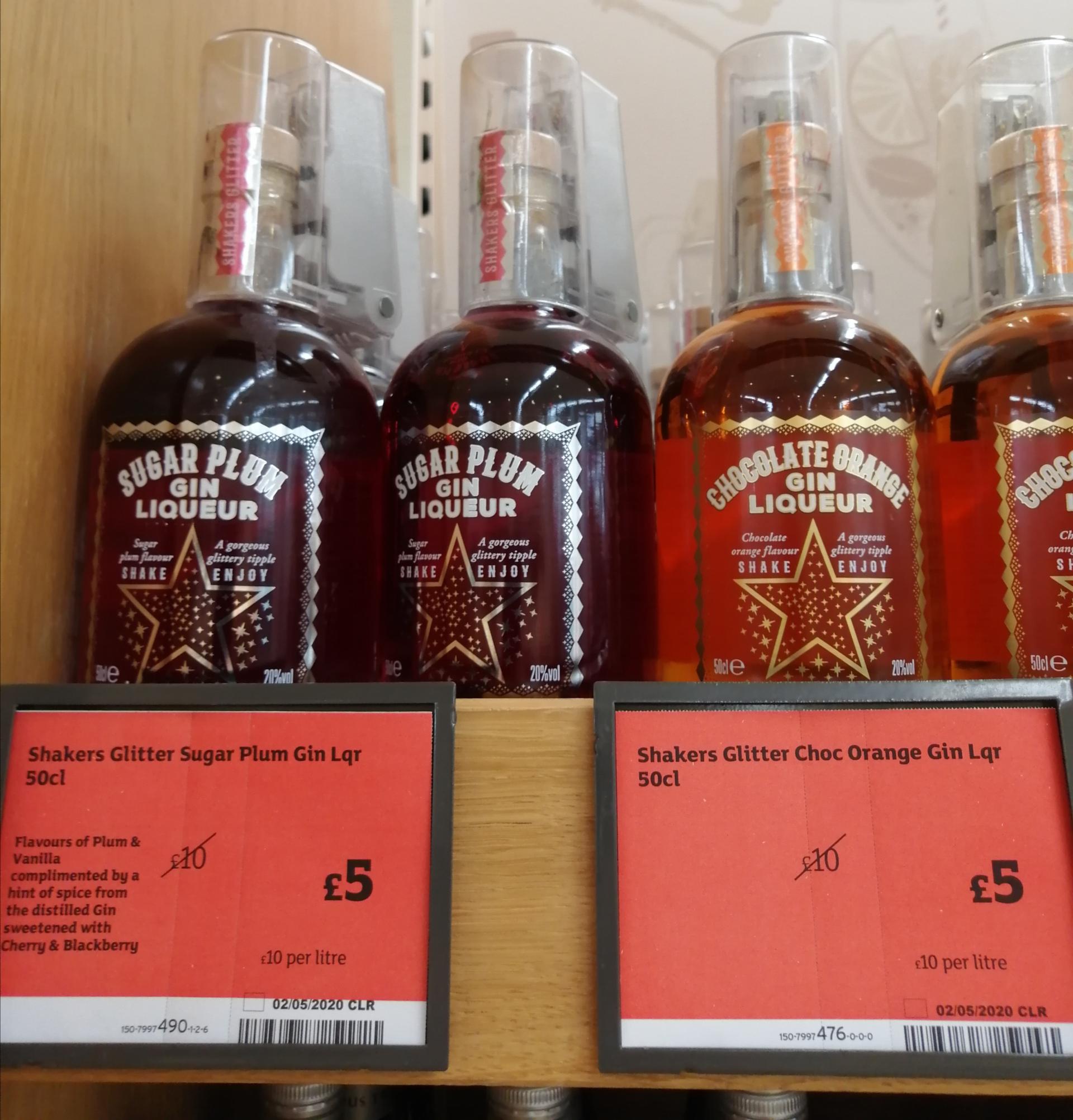 Gin liqueurs half price £5 @ Sainsburys Tamworth